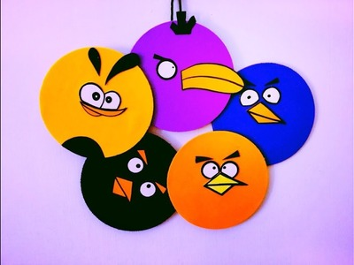 DIY - Angry Birds Room Decor ( Super easy ) Recycle your old CDs | Karthika Loves DIY
