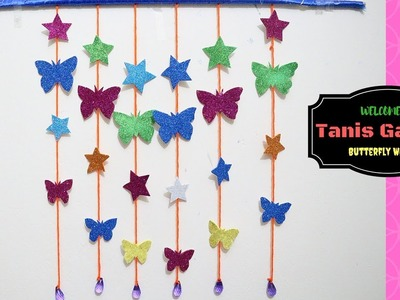 DIY -Butterfly and Star Wall-Room Decor | Paper Craft Ideas for Room Decoration | 3D Butterfly