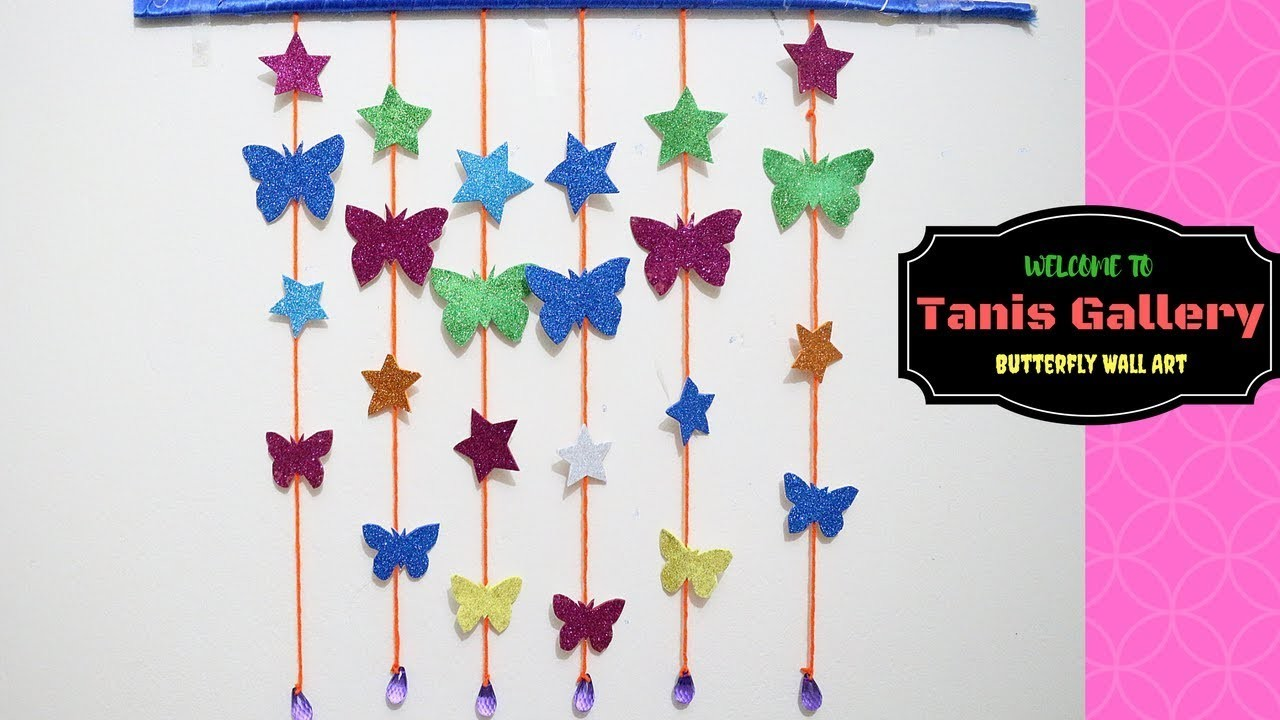 Diy Butterfly And Star Wall Room Decor Paper Craft Ideas For Room
