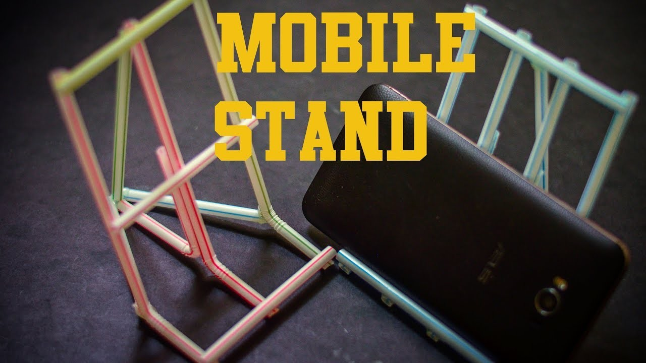 Diy Craft - How to make a mobile stand by using straw |Easy and Simple|