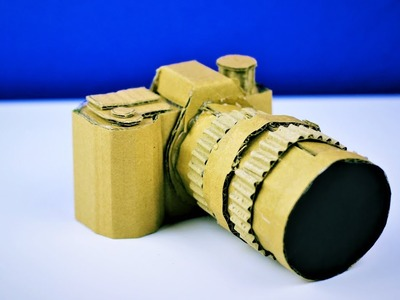 DIY Craft! How To Make Amazing DSLR Camera From Cardboard