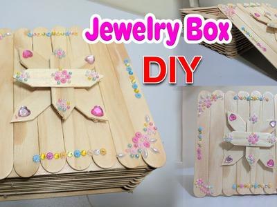 DIY craft, How to Make Jewelry Box Using Ice cream Sticks