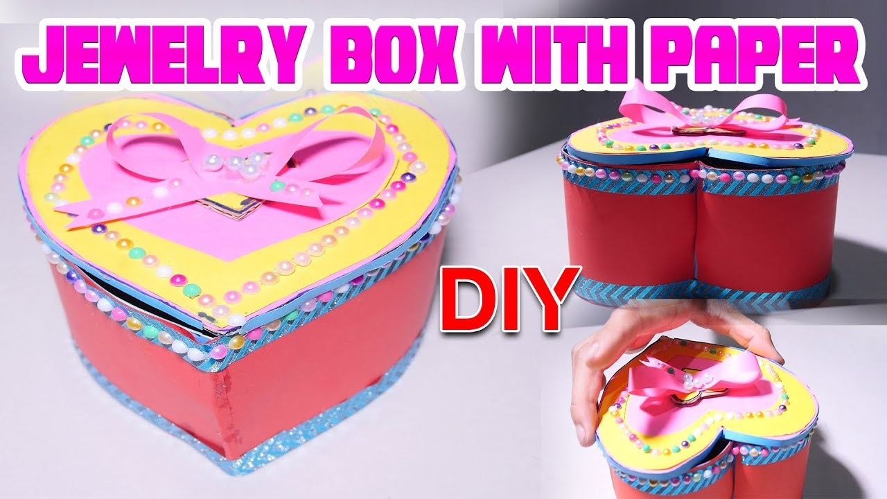 DIY craft, How to make jewelry box with paper