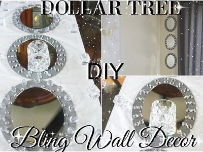 DIY DOLLAR TREE GLAM MIRROR WALL SCONCE | DOLLAR STORE BLING WALL DECOR | DIY ROOM DECOR