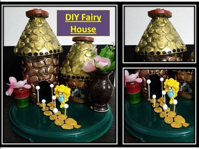 DIY, fairy house out of waste material. recycling craft ideas.