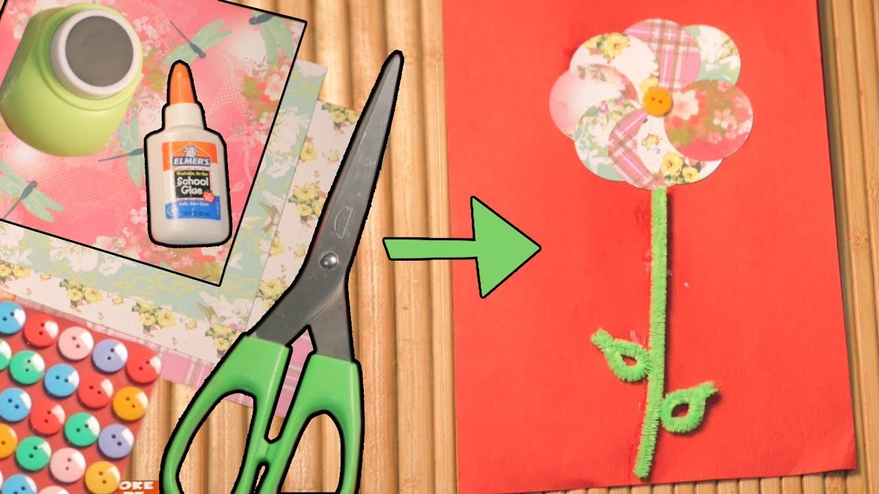 Diy greeting card craft ideas for kids paper craft my for Diy paper crafts for kids