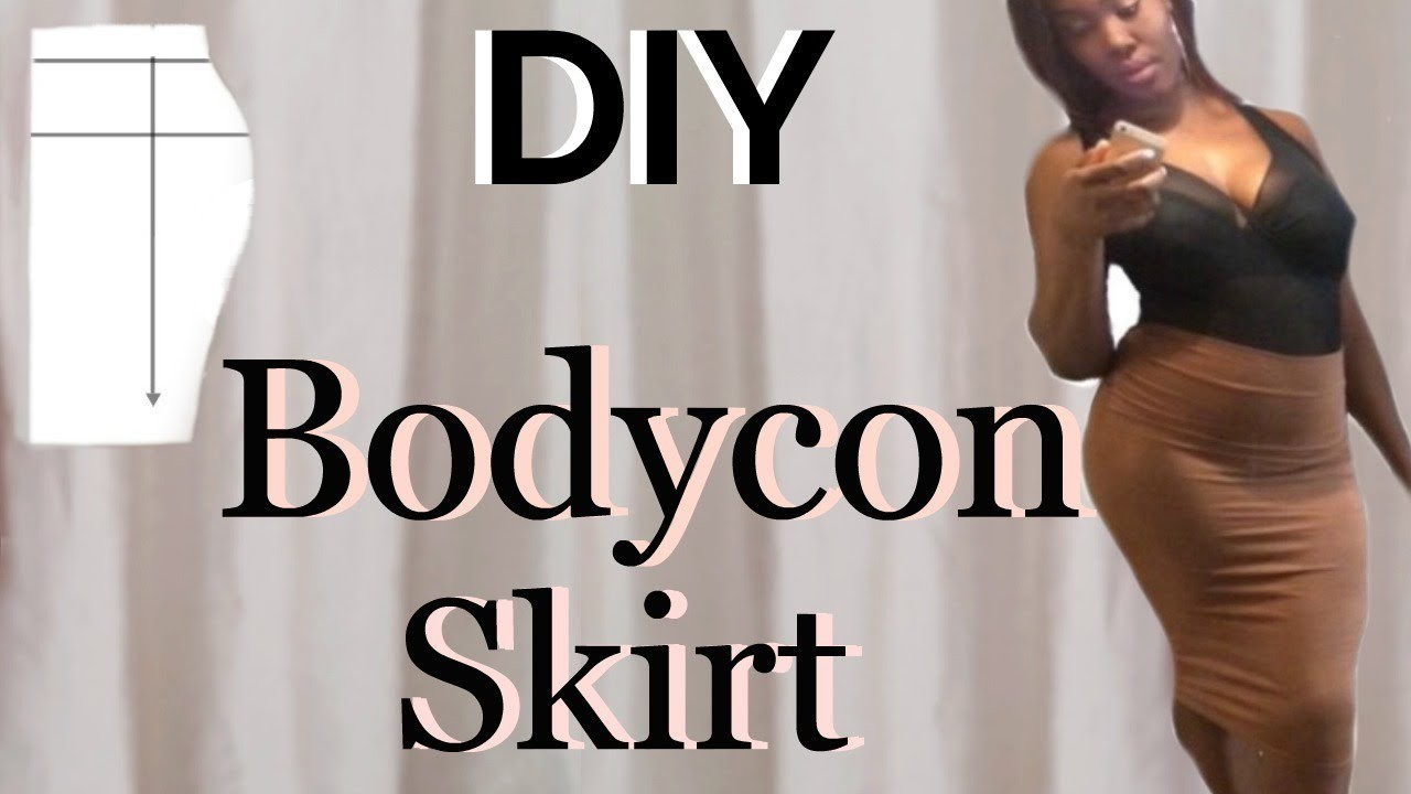 DIY : HOW TO MAKE A BODYCON. PENCIL SKIRT ! SUPER EASY!