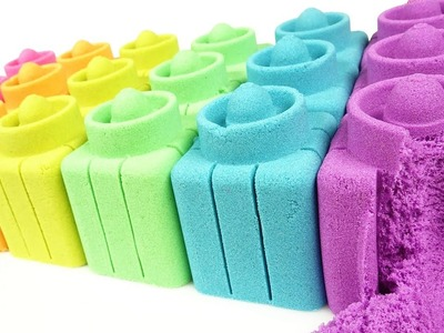 DIY How to make Kinetic Sand Cake Rainbow Brick - Art and Craft for Kids