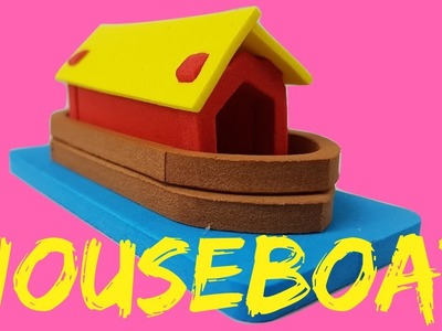 DIY Making of 3D Houseboat | Craft House for Children | PeterPaterTV