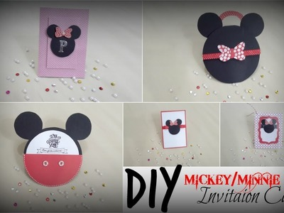 DIY Mickey.Minnie Invitation Cards | Praveen Kaur | DIY  Art and Craft Ideas
