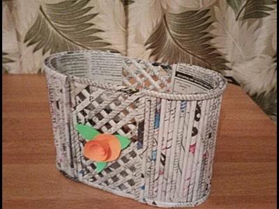 DIY Newspaper Basket |Newspaper craft | Best out of waste