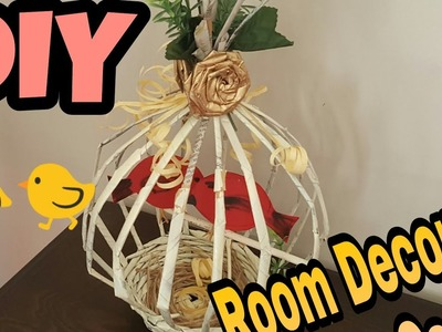 DIY - Room Decor craft idea???? Birdies Cage out of newspaper????????