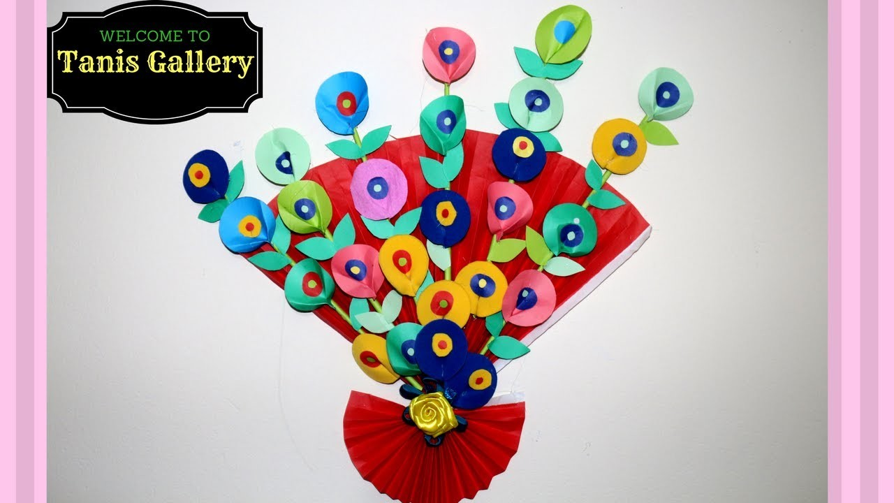 diy - simple method to make wall hanging, paper craft creative ideas