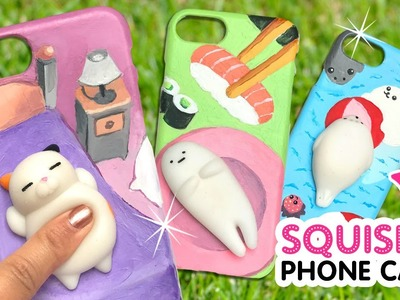 DIY VIRAL SQUISHY PHONE CASES!!! DIY Kawaii Phone Case Crafts & Hacks