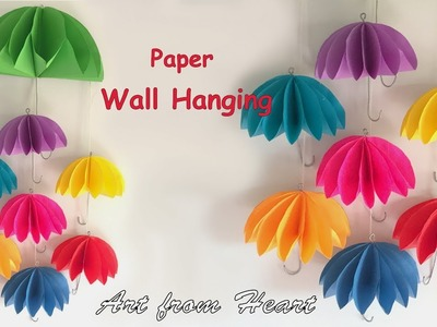 DIY - Wall Hanging from paper. paper craft. cardboard craft. home decoration ideas.