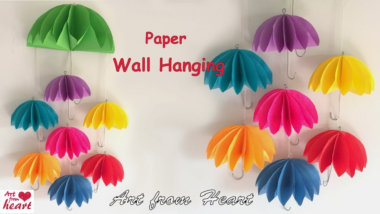 Diy Wall Hanging From Paper Paper Craft Cardboard Craft Home Decoration Ideas My Crafts And