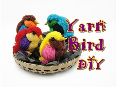 DIY Yarn Craft Bird Easy How To