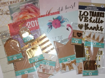 Dollar Tree Haul: New finds: Gold Foiled Craft Items & Calendars