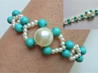 Easy beaded bracelet tutorial. Perfect gift idea