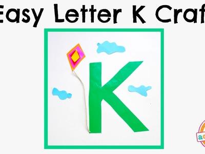 Easy Letter K Craft -- Preschool Alphabet Resource