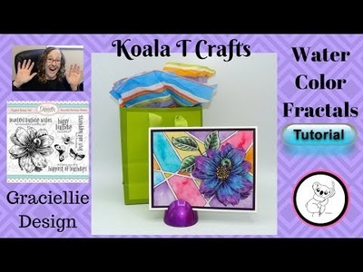 Easy Watercolor Fractals Technique Basic water color technique TUTORIAL Step by step how to video