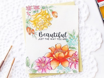 Floral Watercolor Card using Two Watercolor Techniques | Altenew How-to Video