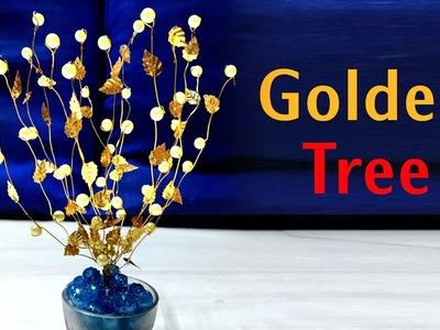 Golden Tree Craft Design. Simple Craft Design.  Tree  Crafts Design. Diy Design