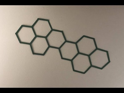 Hexagon Popsicle Stick Wall Hanging Art - DIY Craft