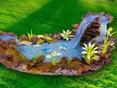 Hot Glue Waterfall Tutorial- DIY Craft Ideas