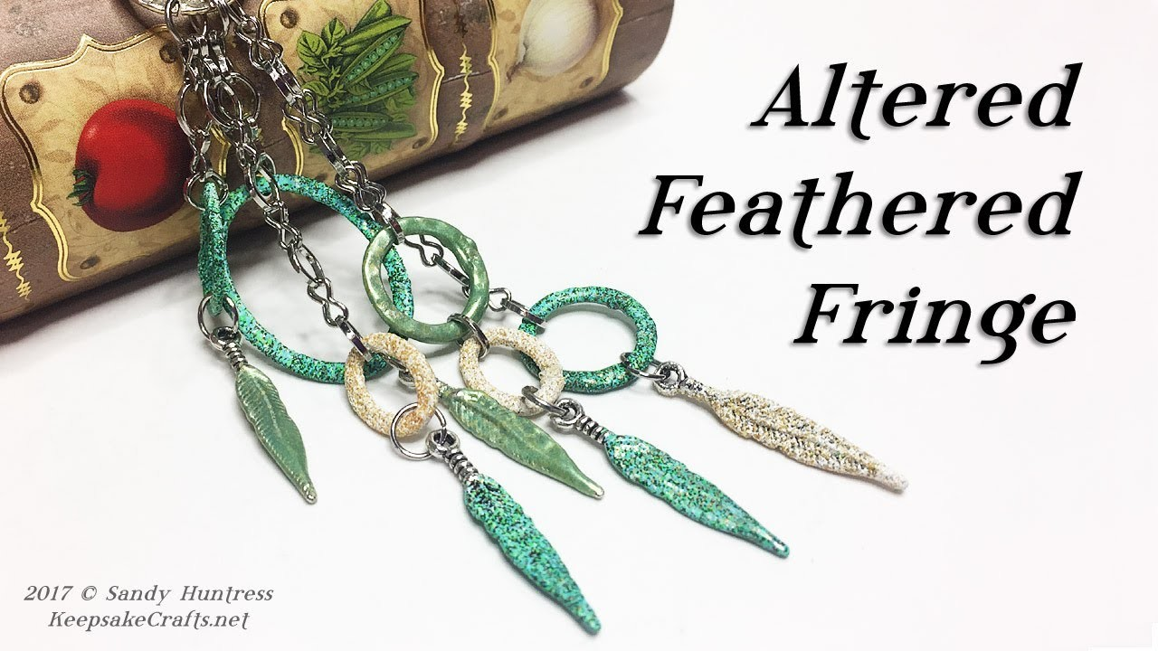 How to Alter & Customize Jewelry Findings-Altered Feathered Fringe-Jewelry Tutorial