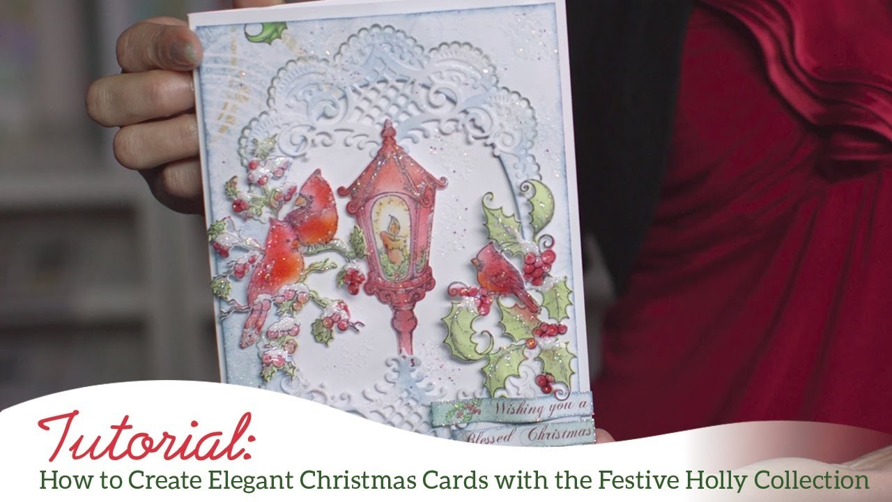 How to create elegant christmas cards with the festive for Elegant homemade christmas cards
