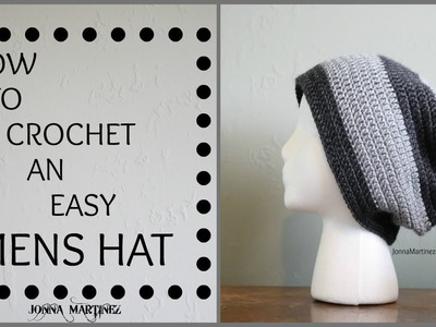 How To Crochet an EASY Men's Hat
