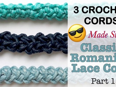 How to CROCHET PERFECT CORD:  Classic Romanian cord (Part 1)
