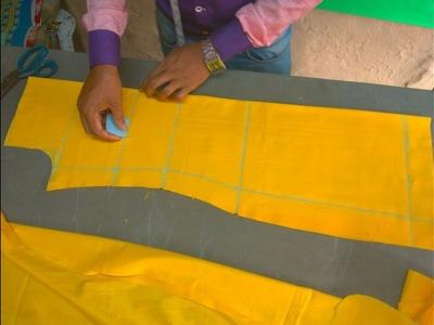 How to cut a kurti. kameez.salwer.suit.kurta step by step ( DIY) In Hindi.urdu