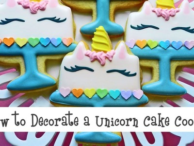 How to Decorate a Unicorn Cake Cookie