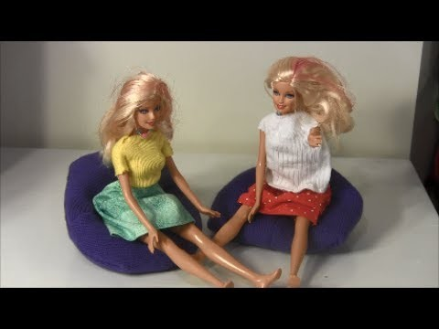 How to Make A Barbie Doll Bean Bag Chair (Dollar Store Craft)