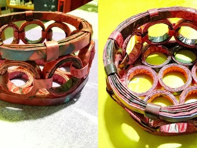 How to Make a Basket with Magazine Newspaper, LifeStyle Designs.
