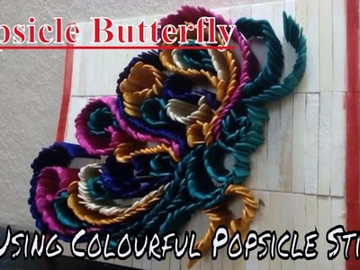 How to make a Beautiful Butterfly with Popsicle Stick   Popsicle Stick Craft   Ice Cream Stick Craft