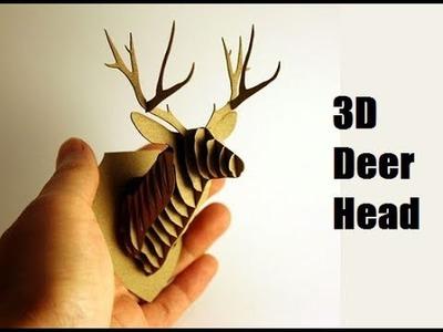 How To Make a Deer Head 3D DIY - Paper Craft (Cardboard)