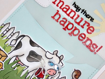 How to make a funny farm themed card + Copic marker coloring