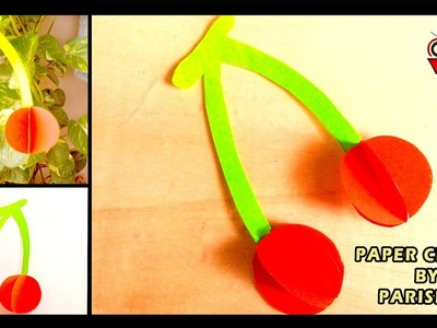 How to Make a Paper Cherry - Paper Cherry Craft for Kids