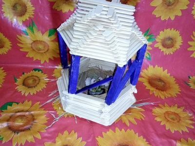 How to Make a Popsicle Stick Bird House | Popsicle Stick Craft | Ice Cream Stick Craft