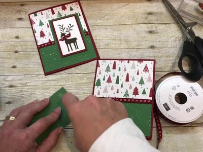 How to make a simple Christmas Card with Stampin Up's Merry Mistletoe Stamp Set