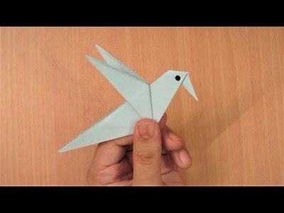 How to make an origami paper bird - 3 | Origami. Paper Folding Craft, Videos & Tutorials.