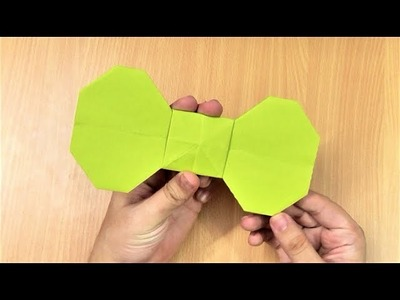 How to make an origami paper bow | Origami. Paper Folding Craft, Videos & Tutorials.