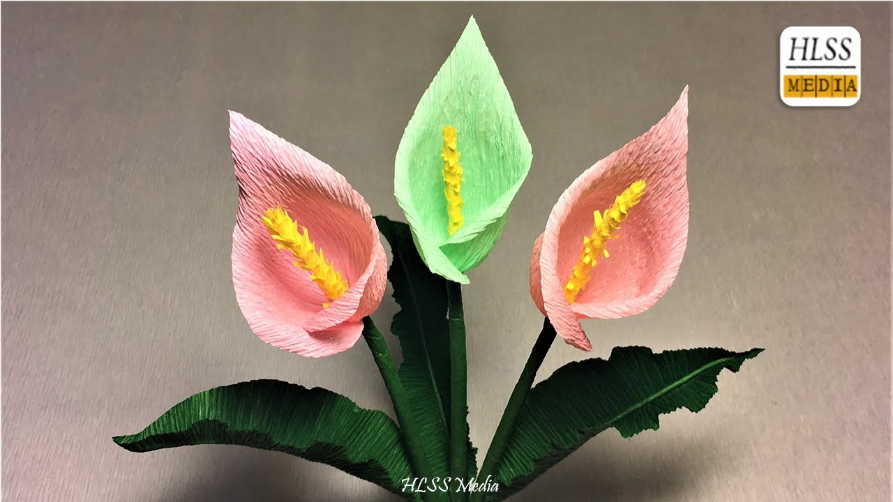 How To Make Calla Lily Paper Flower Diy Calla Lily Crepe Paper