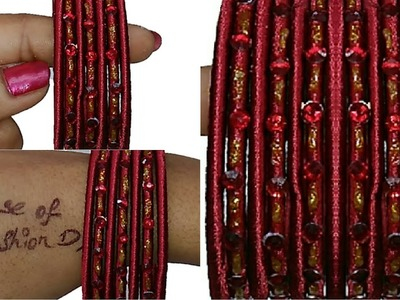 How To Make Designer Silk Thread Bangles At Home (Very Simple&Beautiful)