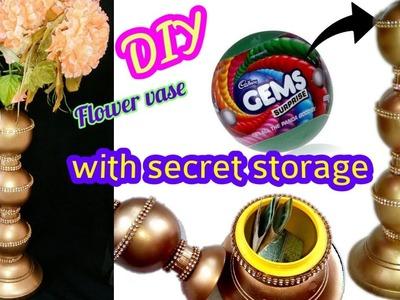 How to make flower vase with secret storage | DIY craft from waste