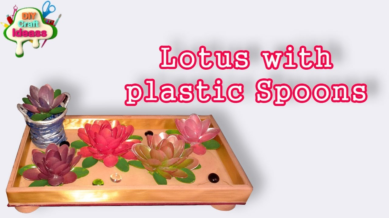 How to make Lotus with plastic Spoons II DIY Craft Ideas