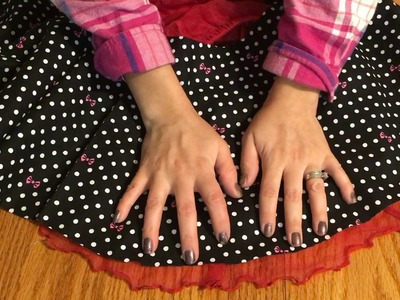 How To Make No Sew Circle Skirt